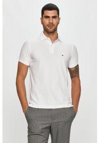 Biała koszulka polo TOMMY HILFIGER krótka, polo