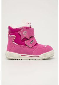 Różowe buty zimowe Primigi z cholewką, z okrągłym noskiem