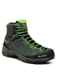 Salewa Trekkingi Ms Alp Trainer 2 Mid Gtx GORE-TEX 61382-5322 Zielony. Kolor: zielony. Technologia: Gore-Tex. Sport: turystyka piesza