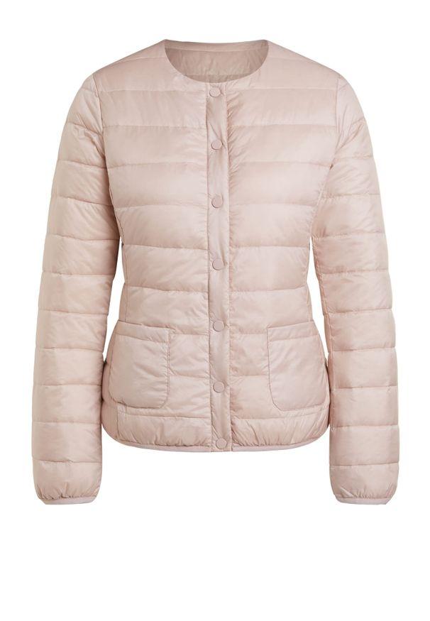 Różowa kurtka z aplikacjami