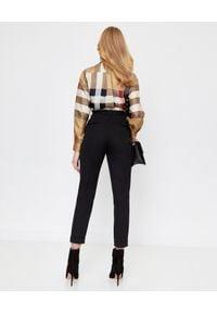 Burberry - BURBERRY - Jedwabna koszula w kratkę Vintage. Kolor: beżowy. Materiał: jedwab. Długość rękawa: długi rękaw. Długość: długie. Wzór: kratka. Styl: vintage