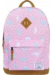 Różowy plecak Paul&Co w kropki