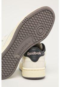 Białe sneakersy Reebok Classic z cholewką, Reebok Club, na sznurówki