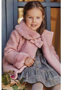 Różowy płaszcz Mayoral bez kaptura, casualowy, na co dzień