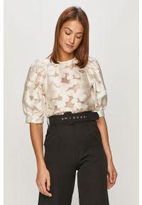 Biała bluzka z krótkim rękawem, krótka