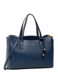 Niebieska torebka klasyczna Puccini klasyczna