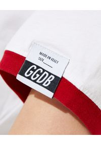 GOLDEN GOOSE - Biała koszulka z nadrukiem. Kolor: biały. Materiał: bawełna. Wzór: nadruk. Styl: klasyczny