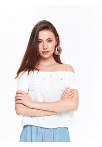 Biała bluzka TROLL elegancka, krótka #6