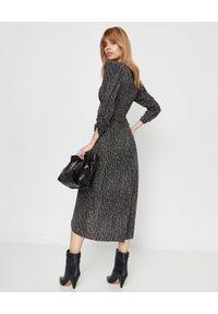 ISABEL MARANT - Jedwabna sukienka Albi. Okazja: na randkę. Kolor: czarny. Materiał: jedwab. Długość rękawa: długi rękaw. Długość: maxi