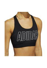 Adidas - Biustonosz adidas Dont Rest Alphaskin FJ6078. Materiał: dzianina, elastan, poliester, skóra, materiał. Wzór: ze splotem, paski