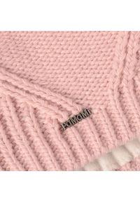 Zimowa czapka damska PaMaMi - Pudrowy róż. Kolor: różowy. Materiał: poliamid, akryl. Sezon: zima