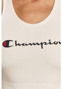 Biały biustonosz sportowy Champion z nadrukiem