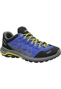 Niebieskie buty trekkingowe Grisport z cholewką, w kolorowe wzory