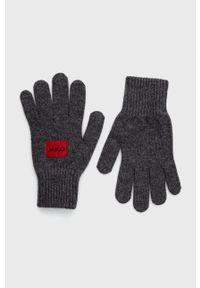 Hugo - Rękawiczki. Kolor: szary