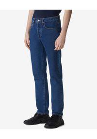 Kenzo - KENZO - Niebieskie jeansy Slim-Fit. Okazja: na co dzień. Kolor: niebieski. Długość: długie. Wzór: aplikacja. Styl: casual