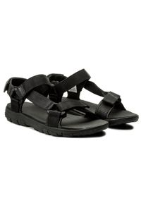 Czarne sandały trekkingowe Jack Wolfskin