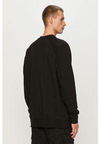 CATerpillar - Caterpillar - Bluza. Okazja: na co dzień. Kolor: czarny. Długość rękawa: raglanowy rękaw. Wzór: nadruk. Styl: casual
