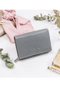4U CAVALDI - Mały portfel damski szary Cavaldi RD-02-GCL GRAY. Kolor: szary