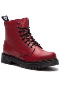 Czerwone buty trekkingowe Altercore z cholewką