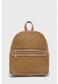 Answear Lab - Plecak. Kolor: brązowy. Styl: wakacyjny