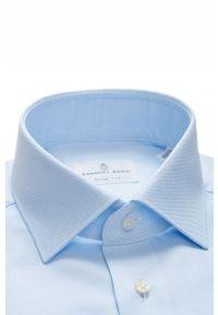 Niebieska koszula Emanuel Berg klasyczna, długa, z klasycznym kołnierzykiem