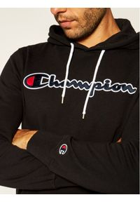 Champion Bluza Satin Script Logo 214183 Czarny Comfort Fit. Kolor: czarny