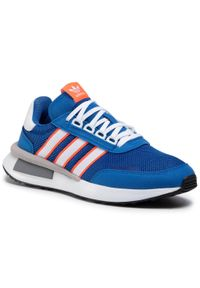 Niebieskie półbuty Adidas casualowe, z cholewką, na co dzień