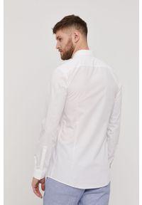 Biała koszula Hugo na co dzień, gładkie, z włoskim kołnierzykiem
