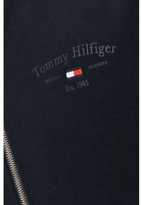 Niebieska bluza rozpinana TOMMY HILFIGER bez kaptura