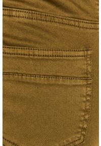 Oliwkowe spodnie materiałowe medicine