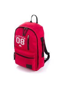 Czerwony plecak JENNIFER JONES młodzieżowy