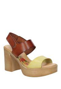 Brązowe sandały Marila casualowe, na lato, na co dzień