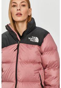 Różowa kurtka The North Face na co dzień, bez kaptura, casualowa