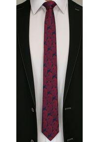 Modny i Elegancki Krawat Alties - Wzór Paisley, Czerwień. Kolor: czerwony. Materiał: tkanina. Wzór: paisley. Styl: elegancki