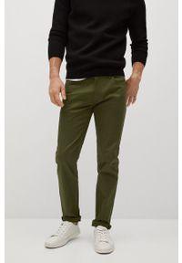 Mango Man - Spodnie PISA. Kolor: brązowy. Materiał: dzianina, bawełna. Wzór: gładki