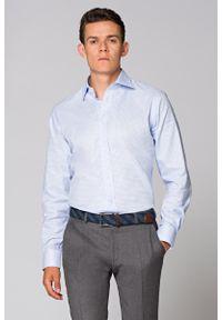 Niebieska koszula Lancerto na co dzień, w kratkę, casualowa