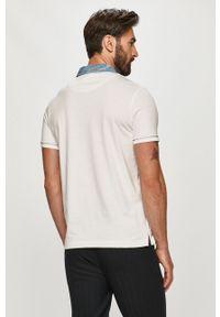 Biała koszulka polo Desigual krótka, casualowa, na co dzień, polo