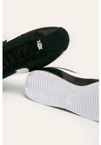 Czarne sneakersy Nike z okrągłym noskiem, z cholewką, na sznurówki, Nike Cortez