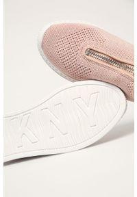 Buty sportowe DKNY z cholewką, z okrągłym noskiem
