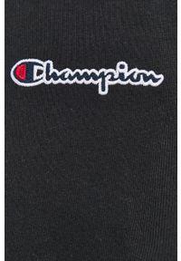 Champion - T-shirt bawełniany. Okazja: na co dzień. Kolor: czarny. Materiał: bawełna. Wzór: gładki. Styl: casual