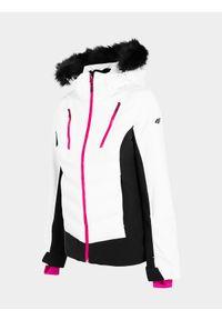 Biała kurtka narciarska 4f na zimę, Dermizax