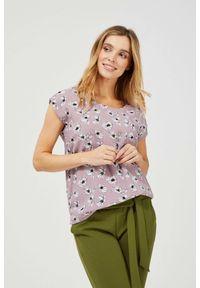 MOODO - Bluzka koszulowa z nadrukiem. Typ kołnierza: bez kołnierzyka. Materiał: wiskoza. Długość rękawa: bez rękawów. Wzór: nadruk