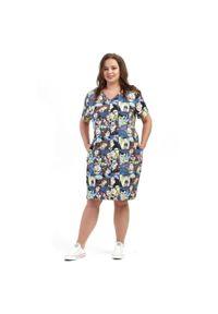 Sukienka dla puszystych Moda Size Plus Iwanek z dekoltem w kształcie v, elegancka