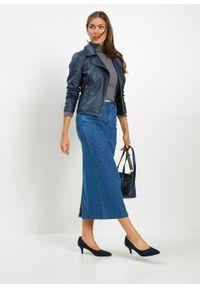 Niebieska spódnica bonprix długa