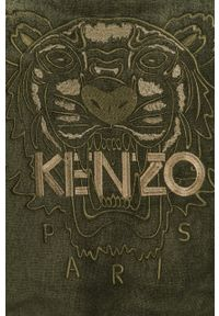 Oliwkowy szlafrok Kenzo