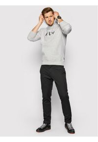 HUF Bluza Essentials Og Logo PF00099 Szary Regular Fit. Kolor: szary