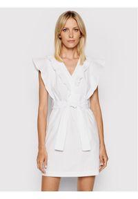 Rinascimento Sukienka letnia CFC0103605003 Biały Slim Fit. Kolor: biały. Sezon: lato
