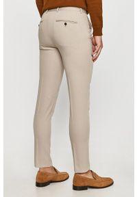 Premium by Jack&Jones - Spodnie. Kolor: szary. Materiał: tkanina. Wzór: gładki