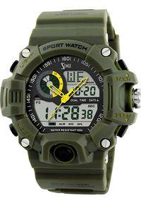 Zielony zegarek sportowy