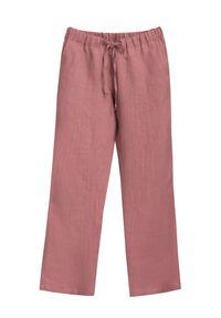 Różowe spodnie VEVA na lato